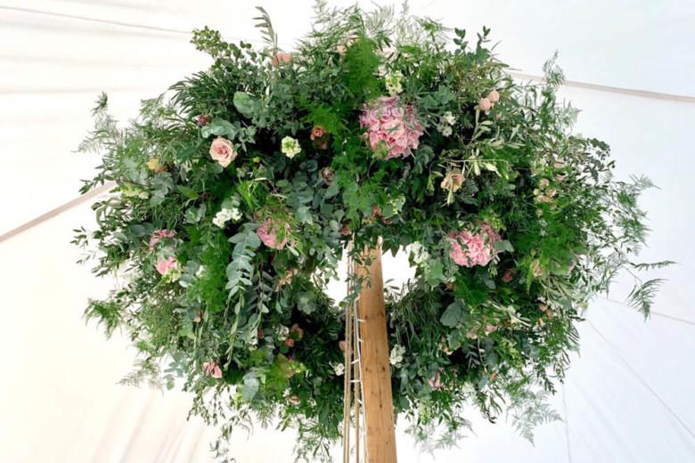 wedding marquee large flower arrangement 1c