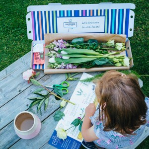 Blooms in a Box Junior children's letterbox flower nature flower arranging and activity box