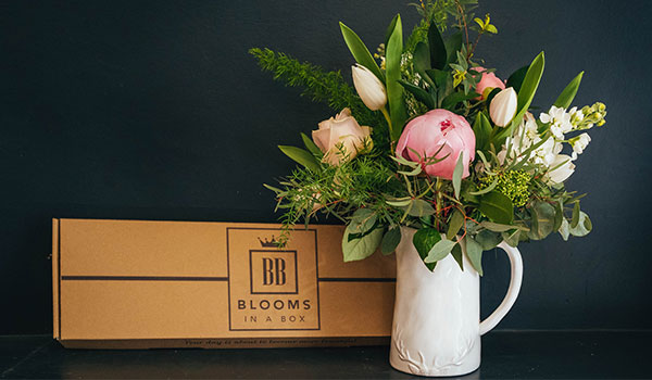 Letterbox subscription flowers Blooms in a Box