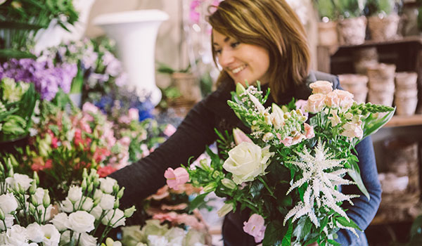 Our florists hand select your flowers in our Cotswold florist shop to post to you for next day delivery