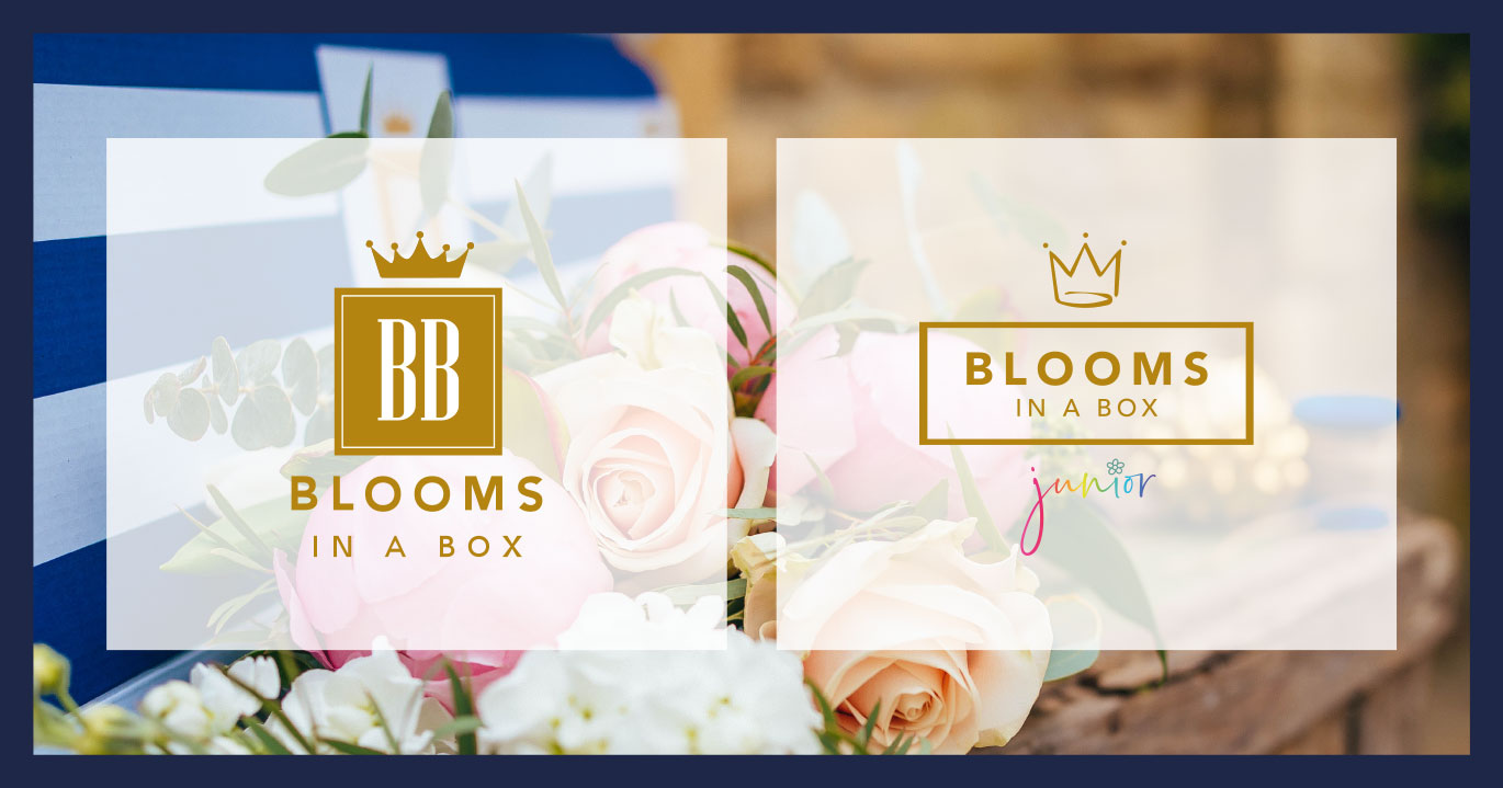 Blooms in a Box and Junior logos